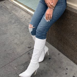 Shoes - Fashion nova boots worn once